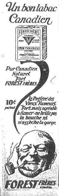 Publicité (source: Le Soleil, 12 avril 1924, p. 27)