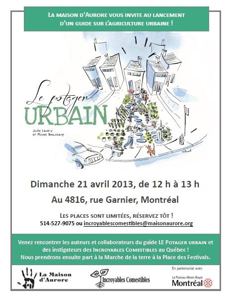 Lancement du livre Potager urbain
