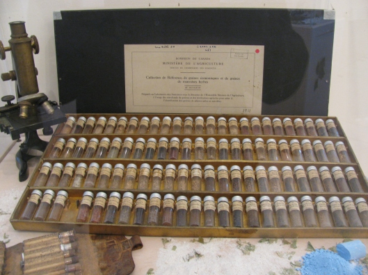 Boîte de semences du début du 20e siècle (source: Collection des Soeurs de la Présentation de Marie)