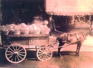 Charette de melons de Montréal (vers 1910)