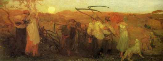 The Harvest Moon de George Hemming Mason 1872 (source: goldenagepaintings.blogspot.ca)