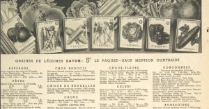 Catalogue Eaton (printemps 1945)