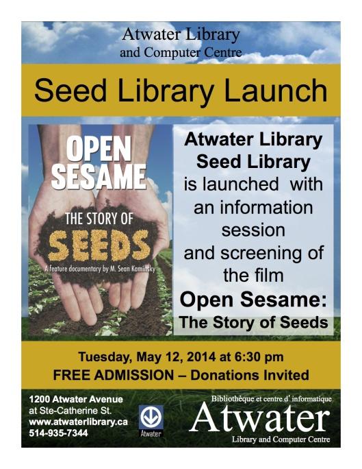 Lancement de la bibliothèque de semences Atwater