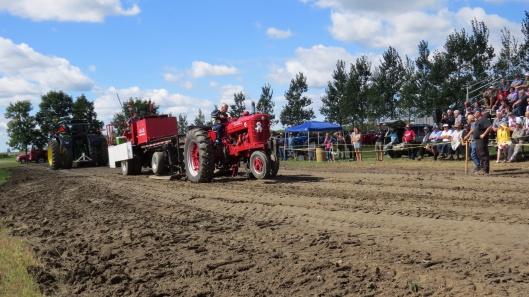 Tire de tracteurs à l'ancienne 2014 au week-end rouge (source: appaq)