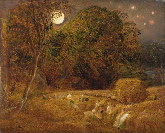 The Harvest Moon (1833) de Samuel Palmer (source: Wikimedia.org)