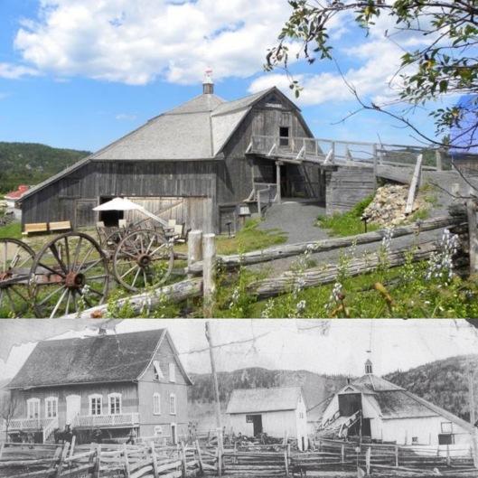 Grange octogonale Alphonse-Gagnon (source: en haut: Radio-Canada et en bas: museeagricole.wix.com)