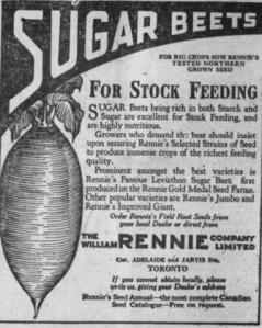 """Publicité parue dans le journal """"The Equity"""" le 2 avril 1925"""